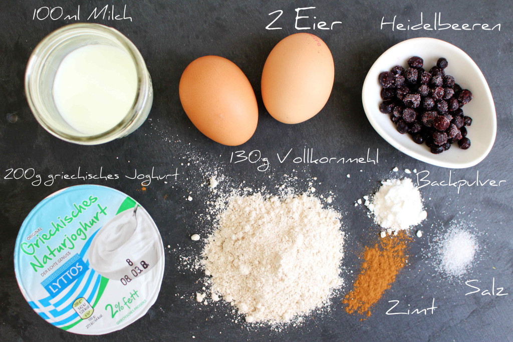 Heidelbeer Pancakes Zutaten