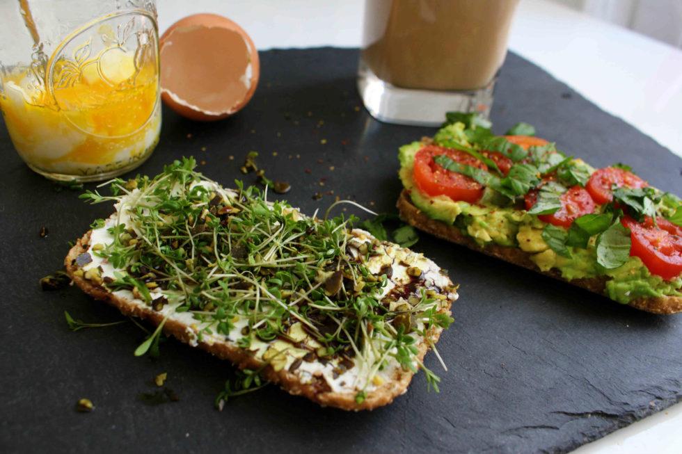 Schnelles Frühstück: Zweierlei Frühstücksbrote