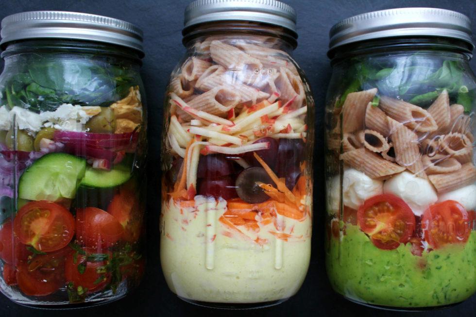 Salat im Glas – 3 Variationen