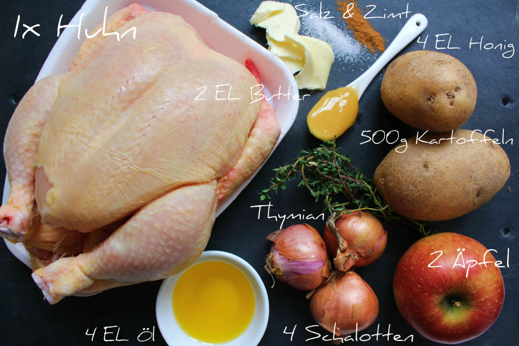 Honig Zimt Huhn Zutaten
