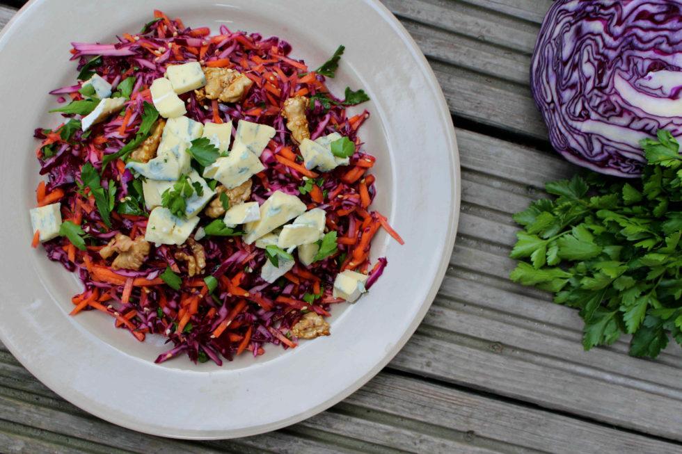 Karotten Blaukraut Salat mit Gorgonzola