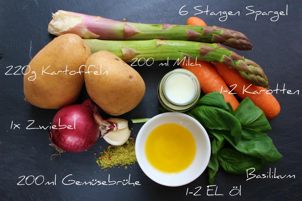 Spargel Basilikum Suppe Zutaten