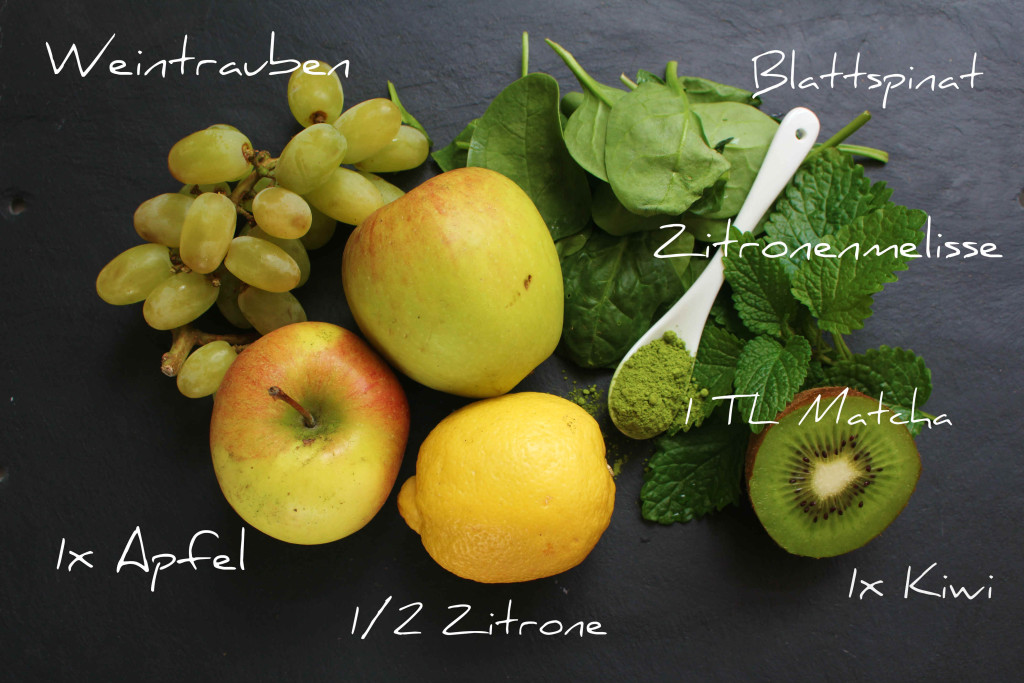 Green Smoothie Zutaten