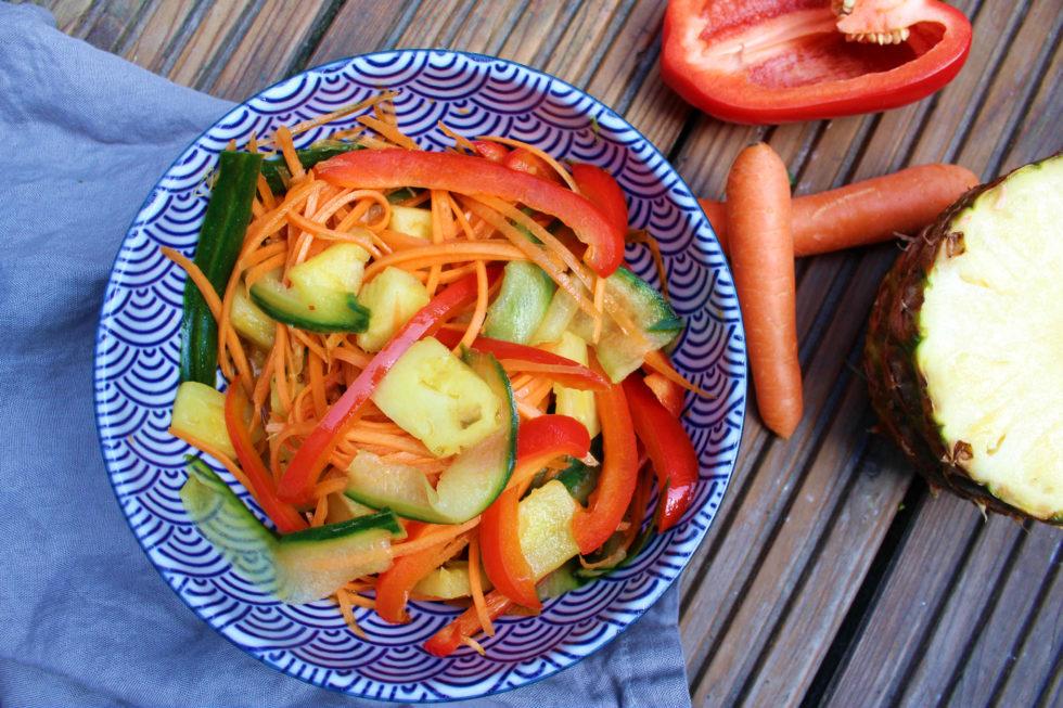 Thai-Sommer-Salat (warm oder kalt)
