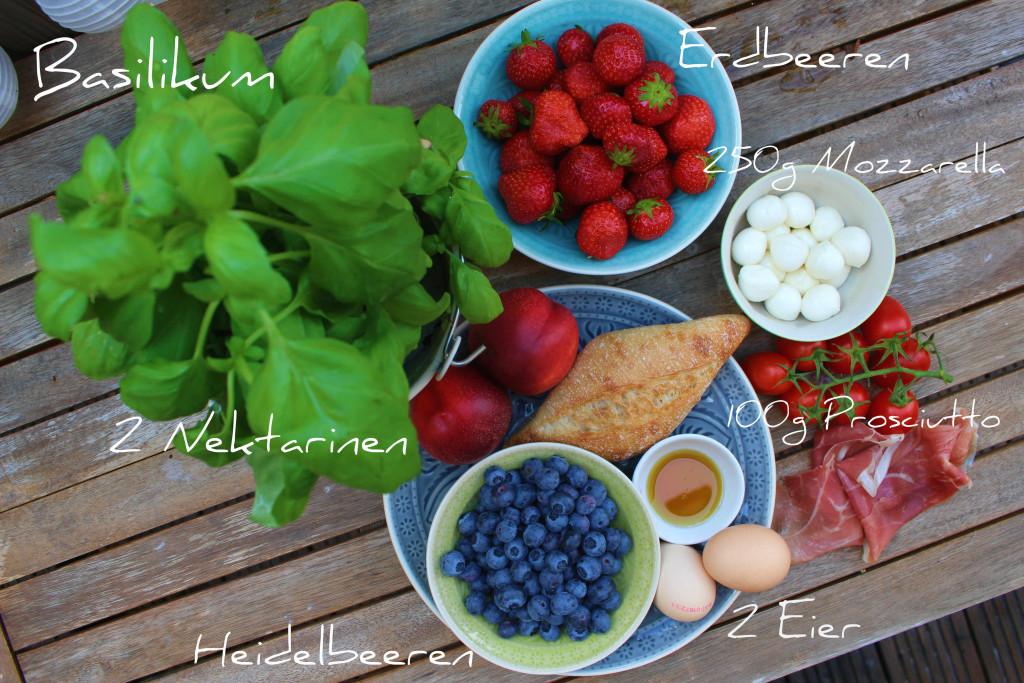 Sommersalat Zutaten