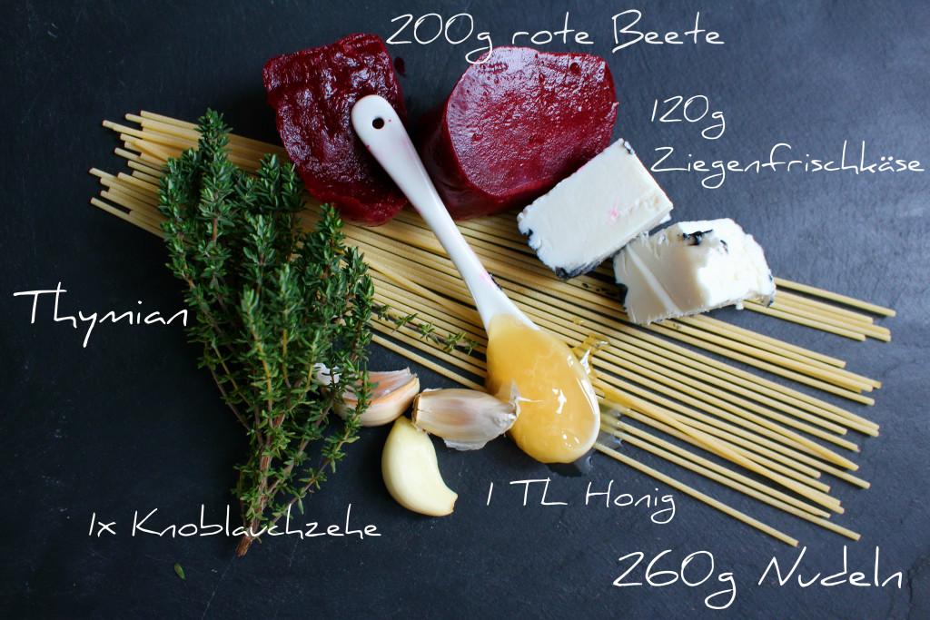 rote Beete Pasta Zutaten