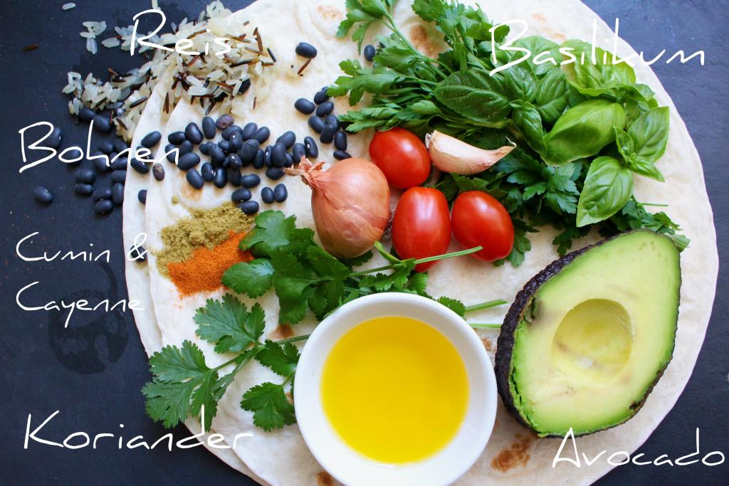 vegane Wraps Zutaten