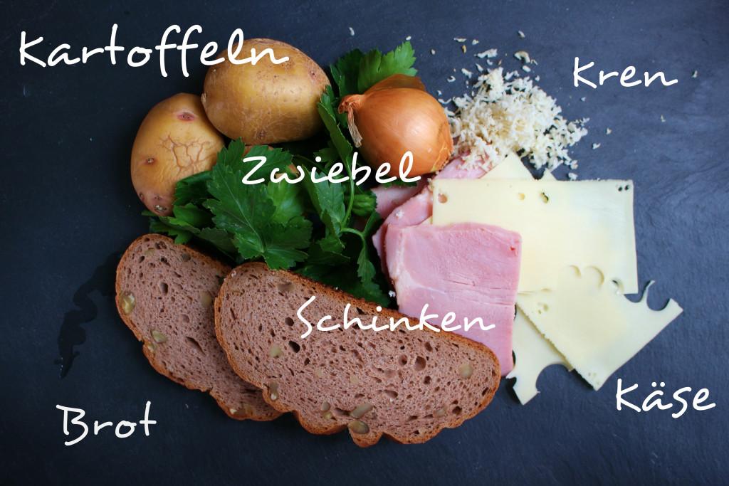 Osterschinken Resteessen Zutaten