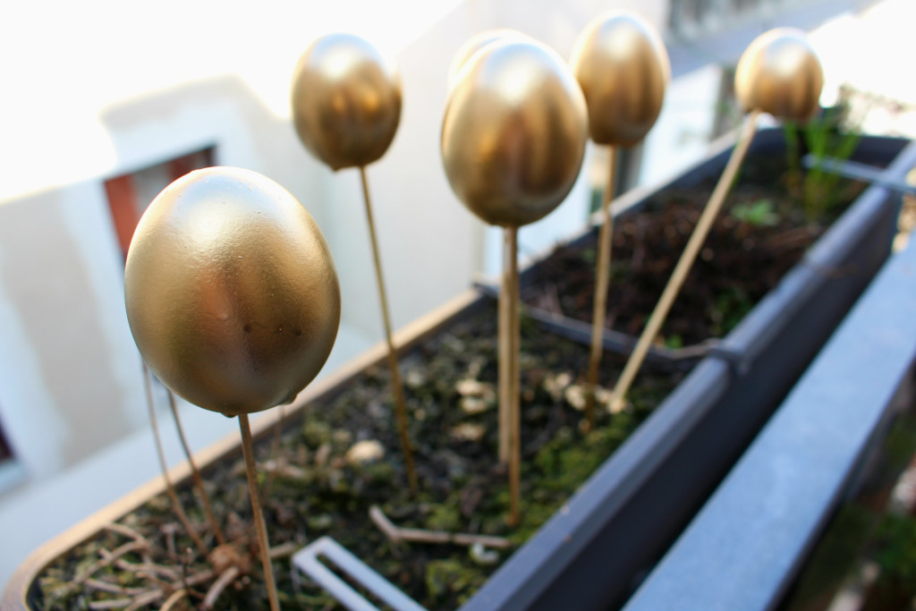 DIY goldene Eier