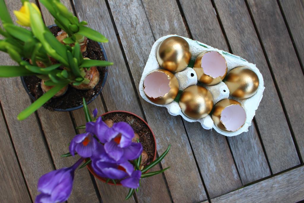 DIY bepflanzte Eier