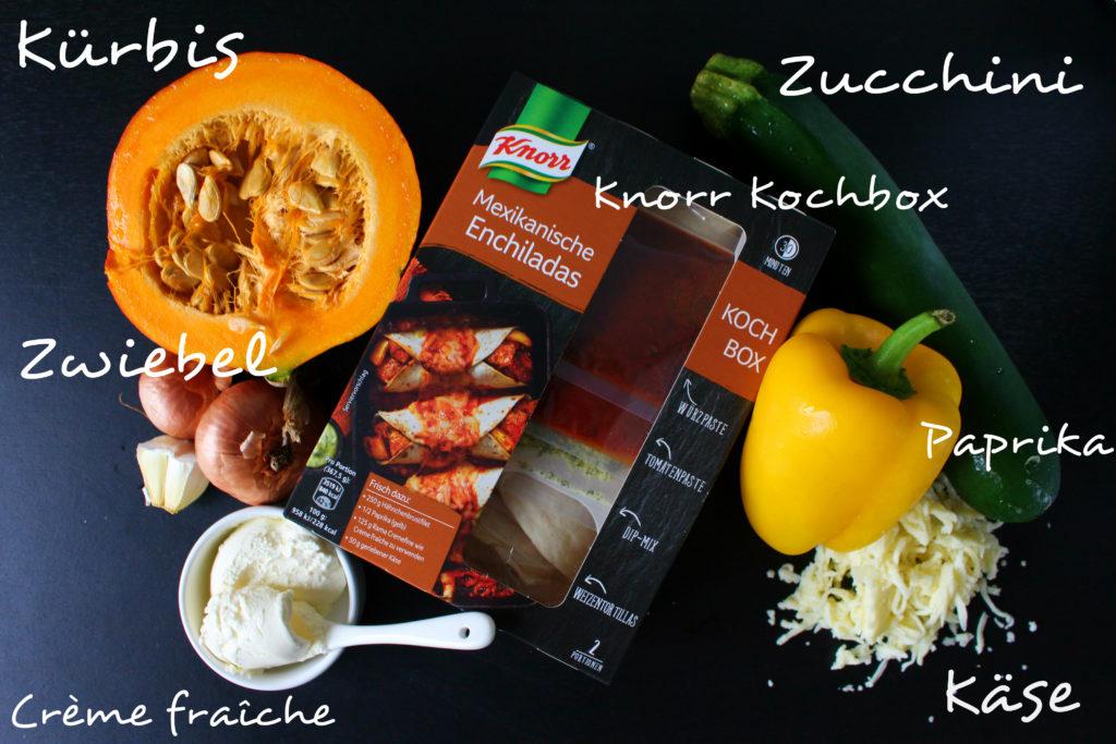 Tortillas Knorr Kürbis Zutaten