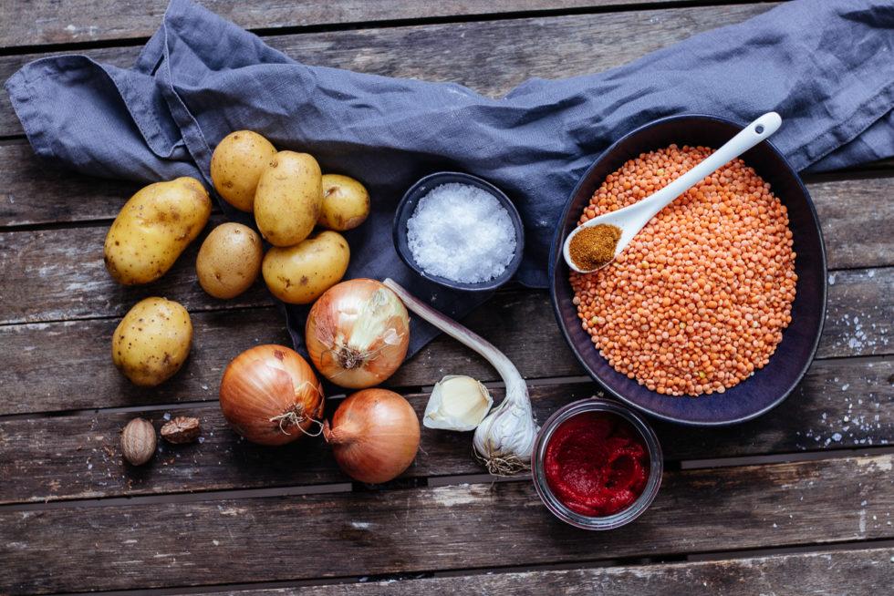 Kartoffel Linsen Eintopf Quarantäne Rezept