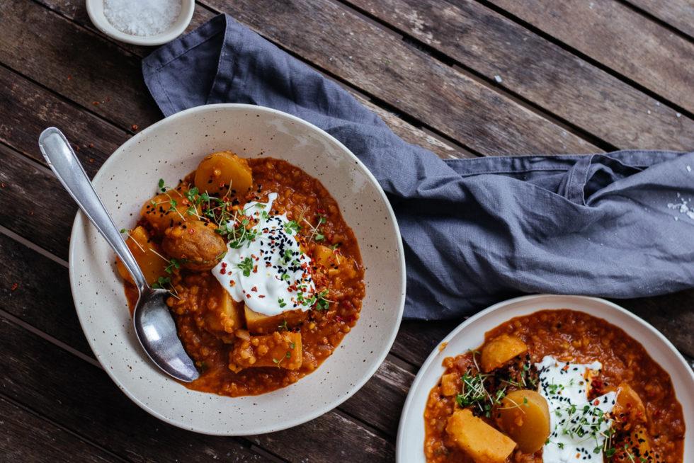 Kartoffel Linsen Eintopf – Quarantäne Küche