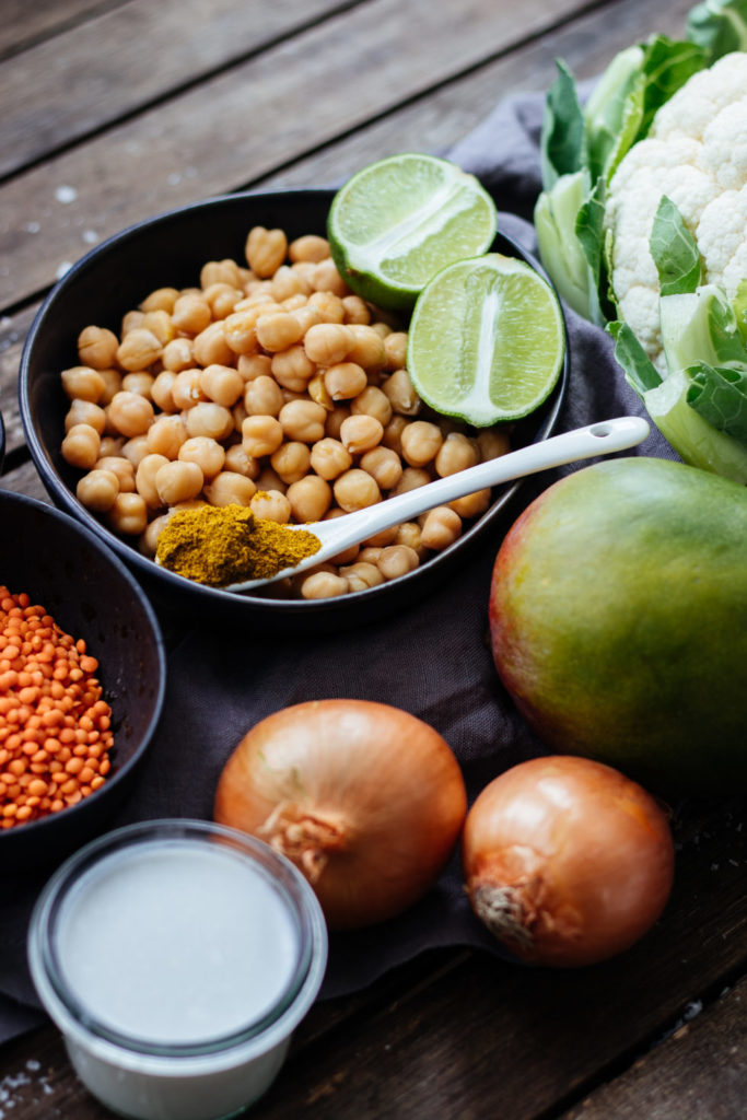 nonolicious Rezept veganes Kokos Mango Spinat Curry
