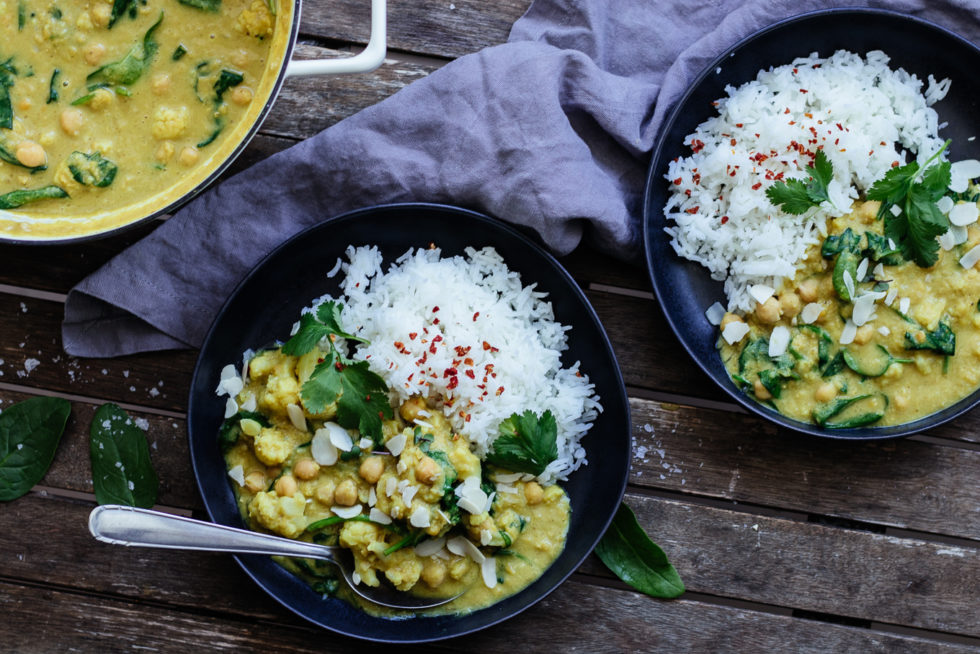 Quarantäne Rezept: veganes Kichererbsen Linsen Curry